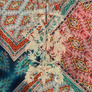 Sundance multi colored embroidered dress size M.
